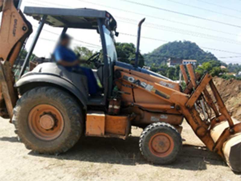 Retro EscavadeiraCASE580M - 16E509