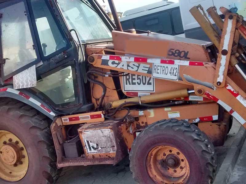 Retro EscavadeiraCASE580L - 16E511