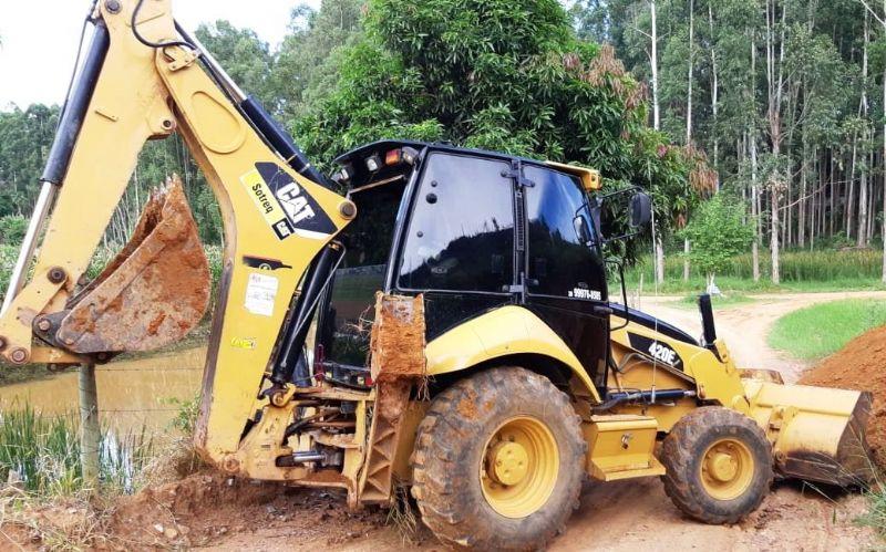 Retro EscavadeiraCATERPILLAR420E - 19C114