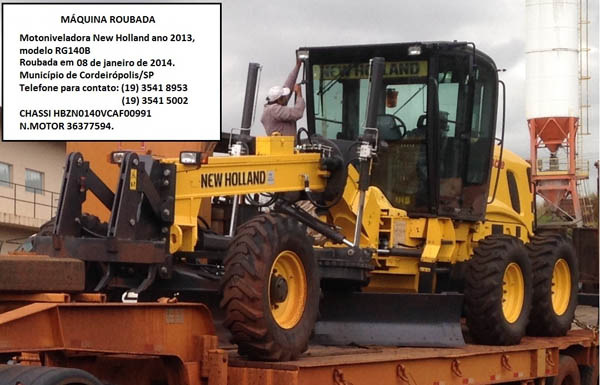 Motoniveladora NEW HOLLAND RG140B - 140108